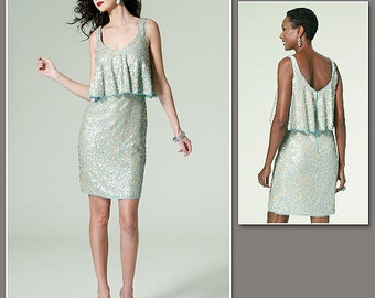 Sz 12/14/16/18/20 - Vogue Dress Pattern V1288 by BADGLEY MISCHKA - Misses' One-Piece Tank Dress - Vogue American Designer