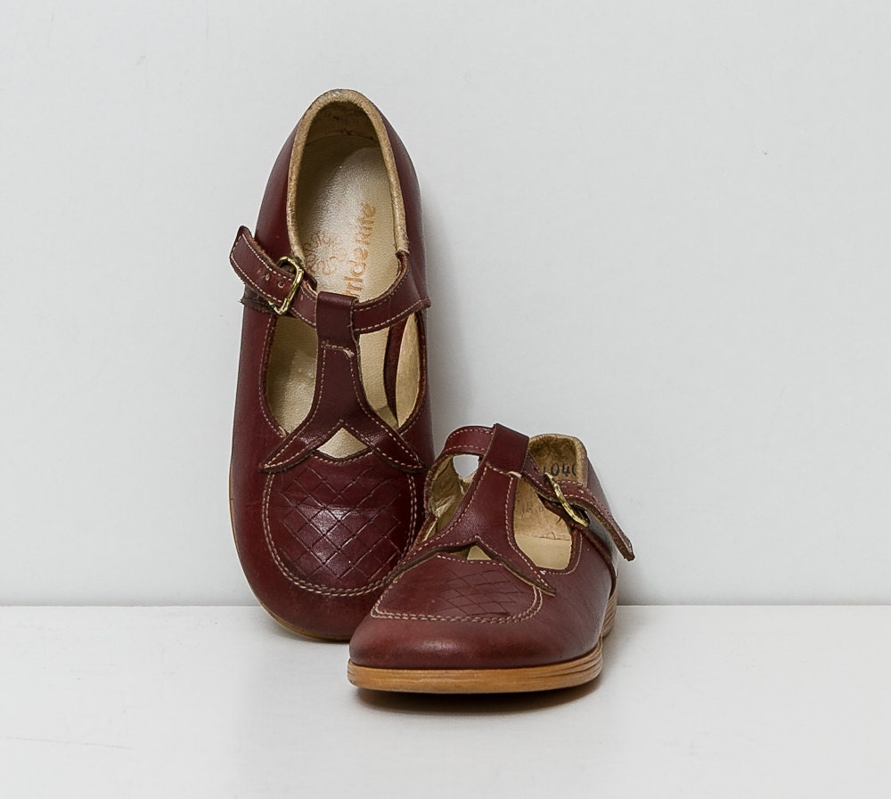 Vintage 1970s Girl S Mary Jane Shoes