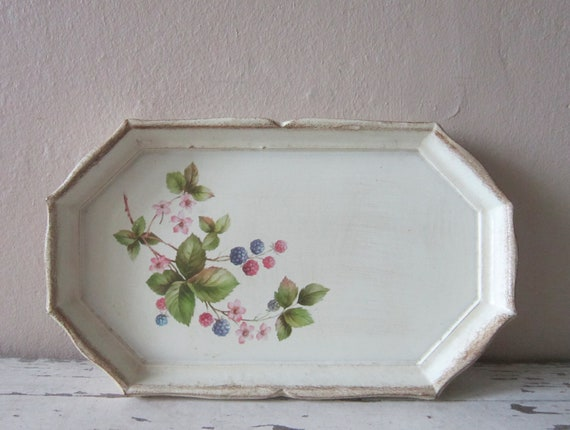 Serving Tray - Vintage Home decor - Shabby and chic - Cottage chic