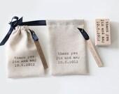 Custom Drawstring Pouches - Shop Bags, Wedding Favors - Set of 24
