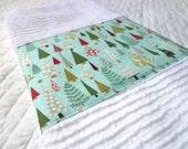 Christmas Forest Embellished Hand Towel