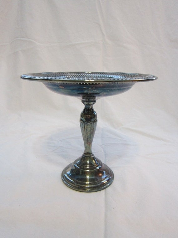 SALE - vintage silverplated compote - footed dish, tray
