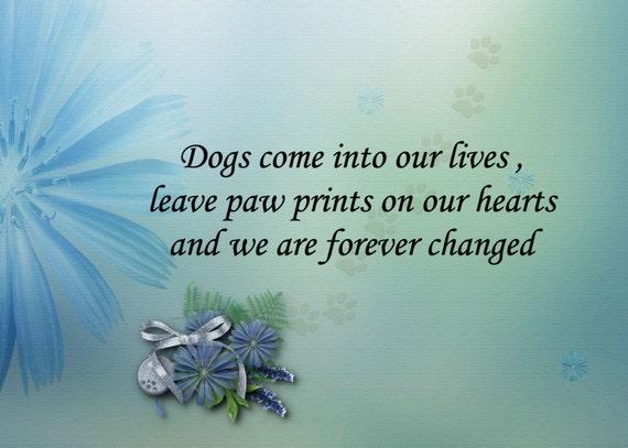 items similar to pet loss sympathy card