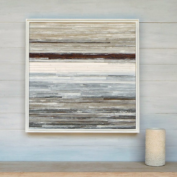 Available, Modern Rustic Wood Wall Art, 24 x 24 Distressed Wood Abstract