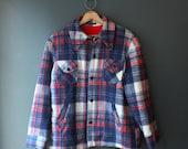 Plaid Jacket  / 60s Plaid Jacket  / Medium Mens