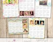 8x10 2013 Calendar Templates - Set of 5 - Pro One