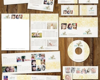 Boutique Marketing Package - Flower Pattern Set - Photography