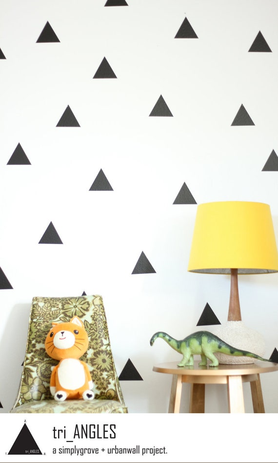מוצר triangles wall sticker kids vinyl wall sticker decal triangles 72841