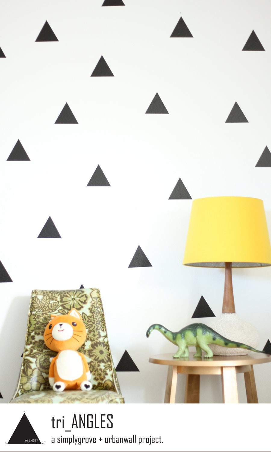 Vinyl Wall Sticker Decal Art Triangles - Wall decals nursery nz