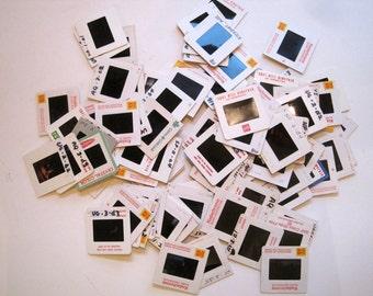 Lot of Old Slides - 35mm Slides Paper Mount - Slide Transparencies 100 assorted