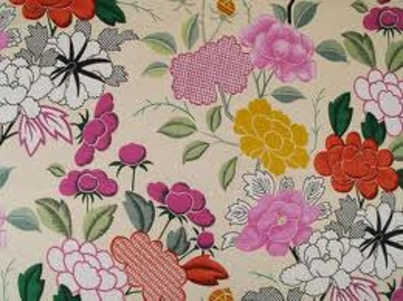 RARE Manuel Canovas Misia Multi color Fabric- Can only get in UK- 1 yard