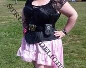 Wenchling hi lo  High Low Mori Girl Pirate Skirt Asymmetric  Cotton Ruffled Steampunk skirt