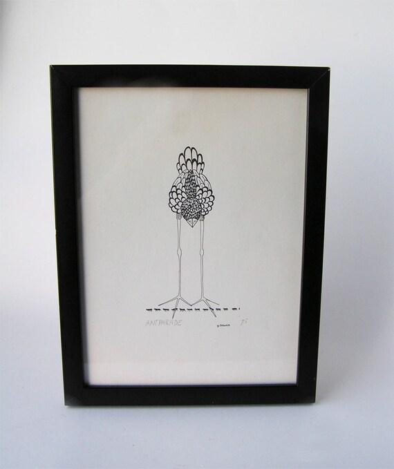 Original Art Print Bird