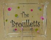 Small Personalized Acrylic Tray Platter