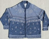 Reduced Fantastic Ugly Christmas Sweater w Sequined n Beaded Snowflakes