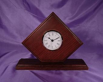 Peruvian Walnut desk clock