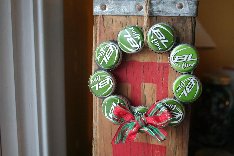 Bud Light Lime Beer Bottle Cap Christmas Ornament