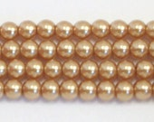 3mm Gold Glass Pearls - 1 strand