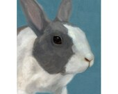 Bunny Magnet - Rabbit Magnet -Dutch Bunny Art - Easter Gift - Ten Percent Benefits Animal Charity
