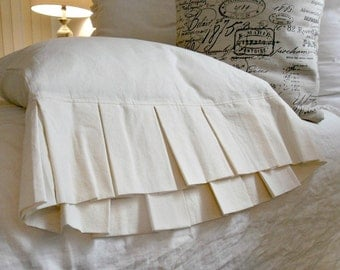 Pleated Cotton Muslin Pillowcases King Size