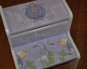 Custom Fairy Princess Coach Lavender kids step stool