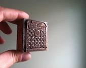 Vintage Wooden Letterpress Printer's Block - Universal Thermos Cork