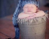 Knit Newborn Hat, Newborn Photography Prop - Shades of Grey