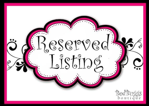 Reserved Listing for sshameem10