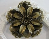 52mm Antique bronze Flower