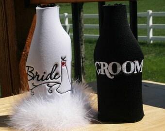 Bride and Groom Bottle Cooler Set