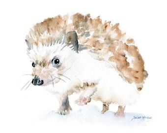 Hedgehog Watercolor Note Card Set of Six