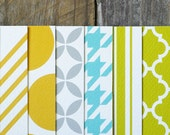 variety pack mod pattern greeting cards - You Pick 6