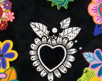 NEW Sacred Heart- Alexander Henry Corazones Primavera Folklorico 1 Yard Fabric