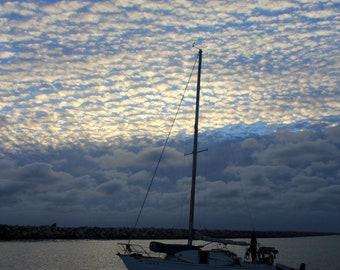 "California Sailboat on the Pacific Ocean (11"" x 14"" photograph)"