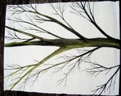 Four Placemats with trees