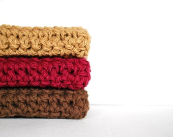 Crochet towels, Mulled Wine Crochet Wash Cloths - Dish Towels