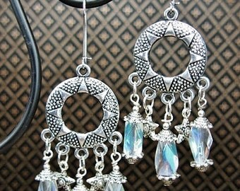 GYPSY STYLE CHANDELIER Crystal Dangle Drop Earrings - STaR PoWeR CHaNDeLieRs