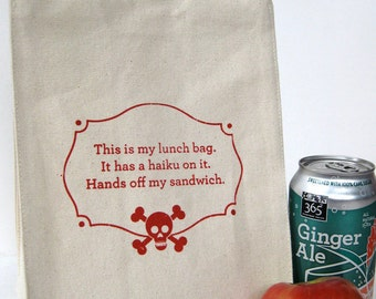 Recycled Cotton Canvas Lunch Bag - Haiku