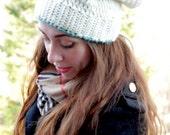 Women's Slouchy Beanie, Stocking Cap, Slouchy Hat, Crocheted Hat