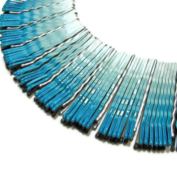 Ombre Bib Necklace in Turquoise, 2013 Jewelry Trends