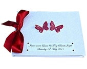 Red Butterfly Guest Book - Any occasion