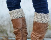 Boot Cuffs // Boot Socks // Boot Toppers // Oatmeal // Puffy Boot Cuffs
