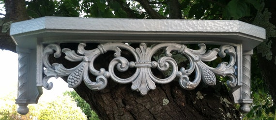 Wall Shelf Bed Crown Vintage Homco Large White Shabby