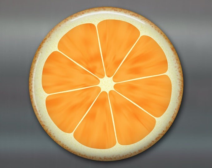 """3.5"""" citrus fruit magnet, gift for her, food art, fridge magnet, orange slice magnet, orange decor, refrigerator magnet, big magnet, MA-1604"""
