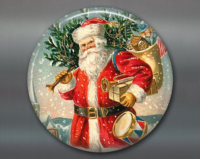 Santa Clause decorations for Christmas tree - holiday magnets for the kitchen - refrigerator magnets kitchen decor -  MA-1317