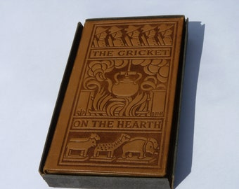 Leather Bound Dickens The Cricket on the Hearth, mint condition 1901 b1d2