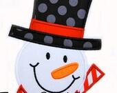 Frosty Applique design Machine Embroidery Design Snowman INSTANT DOWNLOAD