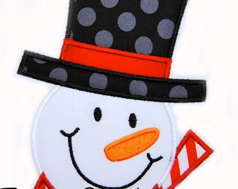 Frosty Applique design Machine Embroidery Design Snowman INSTANT DOWNLOAD Snowman
