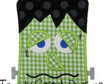 Frankenstein Applique design Machine Embroidery Design INSTANT DOWNLOAD