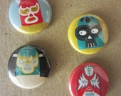 Luchadore Button or Magnet Pack (choice 1)